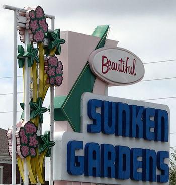 Sunken Gardens Sign 14 November 2008