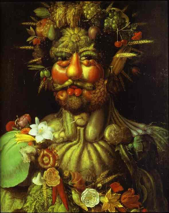 Giuseppe Arcimboldi or Arcimboldo (1527–1593) Vertumnus (1590–91)