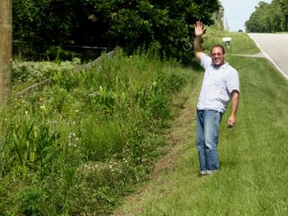 Jeff along the roadside 18 July 2009