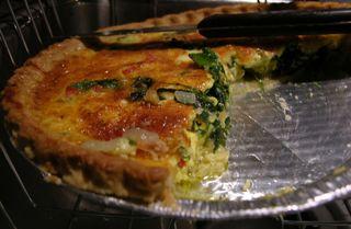Spinach Quiche 6 December 2009