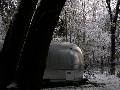 The Airstream on a Snowy Morning 13 February 2010