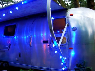 Airstream with Blue Lights 30 July 2010