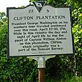 Clifton Plantation Historical Marker 9 August 2010