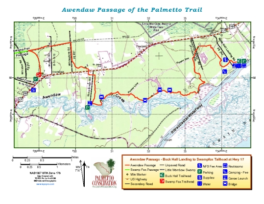 Awendaw Passage map