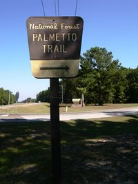 National Forest Palmetto Trail 21 October 2011