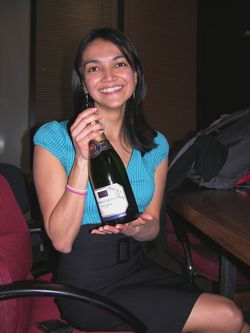 Maria with the Signed Bottle 11 March 2011