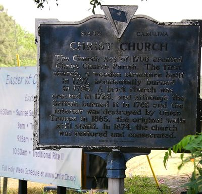 Christ Church HIstorical Marker 21 April 2011