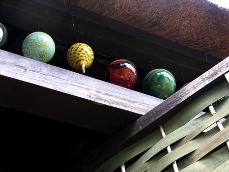 Hanging glass balls 19 May 2011