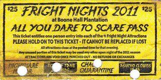 Fright Night ticket 2011