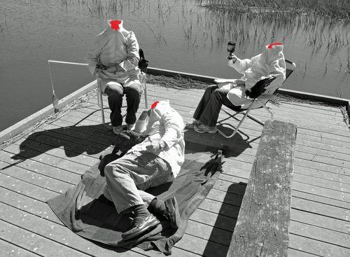 Headless Scientists I B&W 31 October 2012