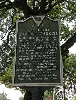 Old Baptist Cemetery Historical Marker 28 July 2013