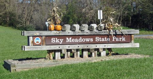 Sky Meadows Sign 5 November 2011