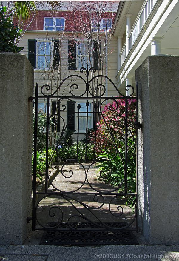 Phillip Simmons 65 Alexander Street  Lyre Gate with Watermark