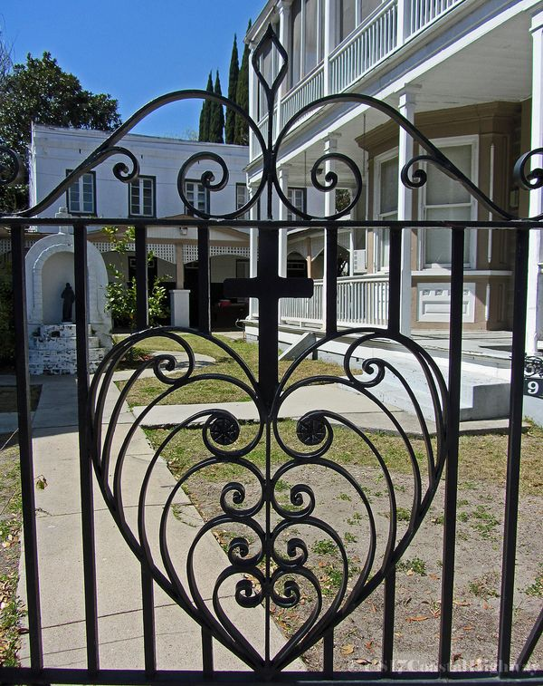 Heart Gate designed by Phillip Simmons with Watermark