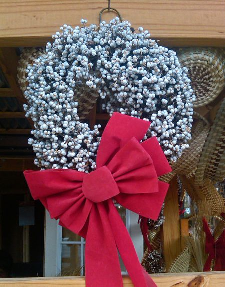Popcorn Tree Wreath 17 December 2012