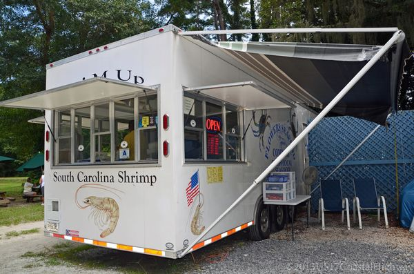 Flowers Seafood Company Food Truck Edisto Island with WM 23 August 2013