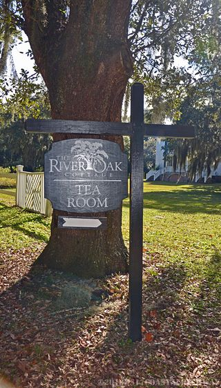 Tea Room Sign Hopsewee Plantation with WM 12 November 2013