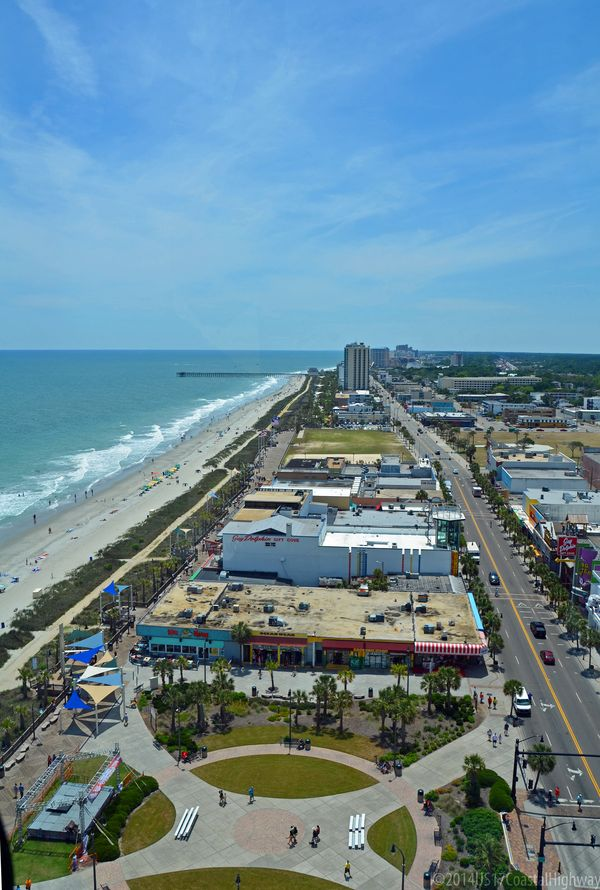 Looking south on Ocean Boulevard from Skywheel with WM 19 May 2014