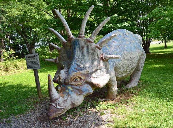 Styracosaurus Dinosaur Land White Post VA I with WM 9 June 2014