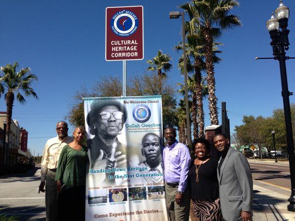 Gullah Geechee Heritage Corridor Sign US 17 Jacksonville FL Michael Allen NPS 17 June 2014