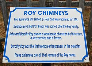Roy Chimneys Sign Port Royal VA with WM 2 March 2014