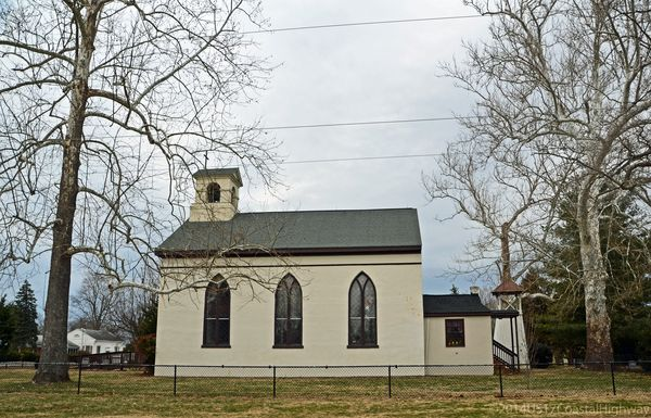 Another view of St Peter's Episcopal Church Port Royal VA with WM 2 March 2014