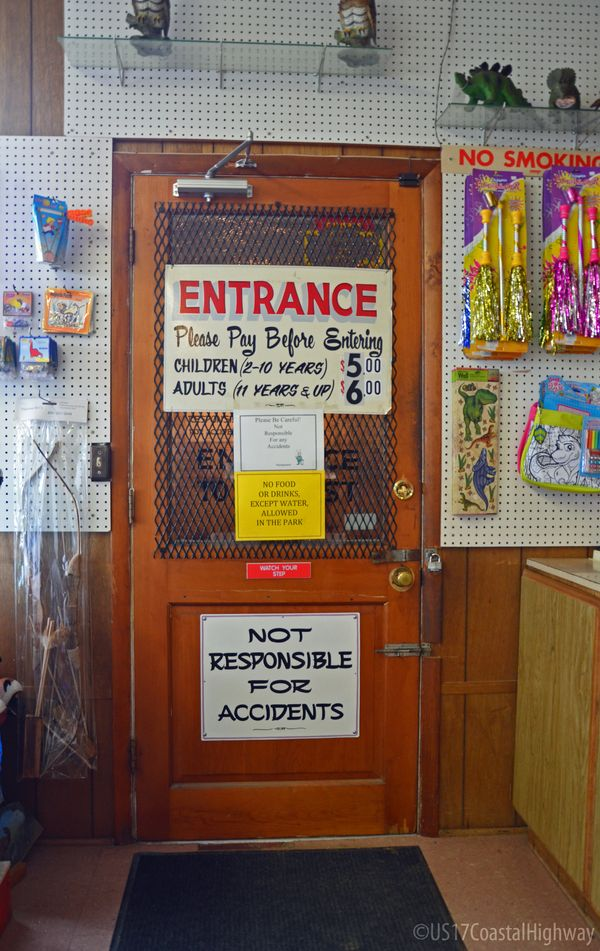 Indoor Entrance Door Dinosaur Land White Post VA with WM 10 June 2014