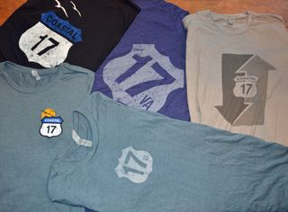 US 17 Coastal Highway t-shirts 1 September 2014